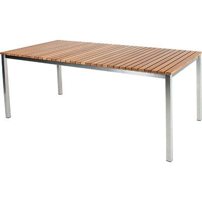 Skargaarden Haringe Dining Table Table Size: Medium, Finish: Brushed Stainless Steel