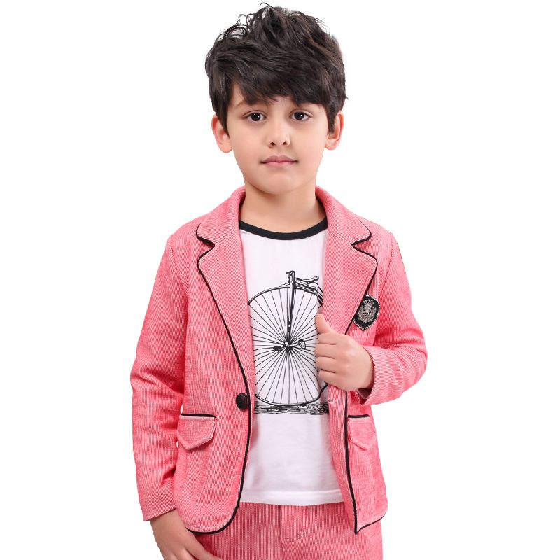 boys suit New Spring Autumn Teen Boys Single Breasted Blazers Casual ...