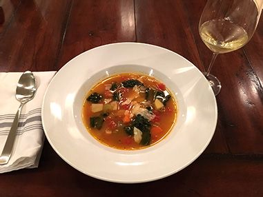 White Bean and Kale soup from the Balanced Body Newsletter