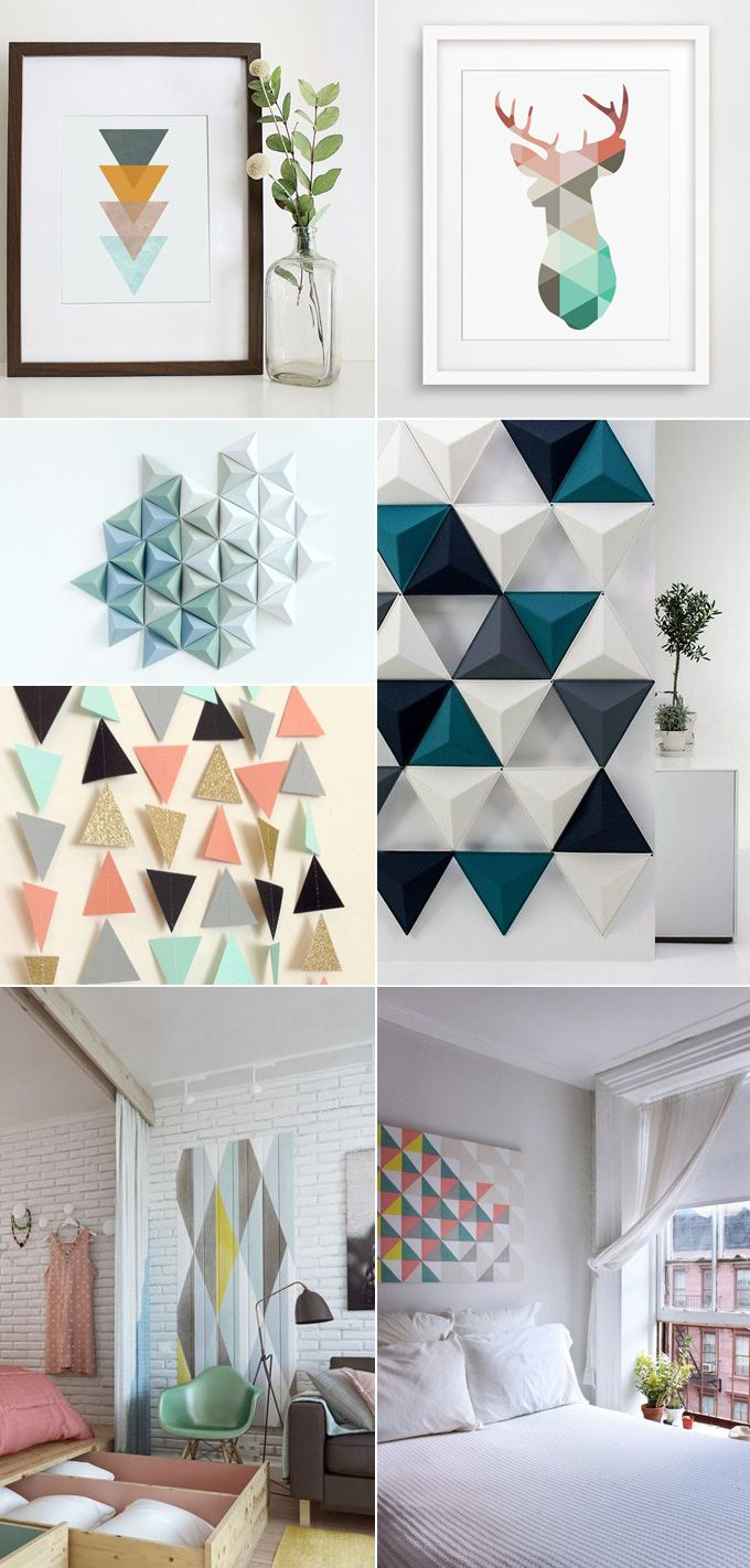 D coration inspiration scandinave vintage retro for Decoration murale geometrique