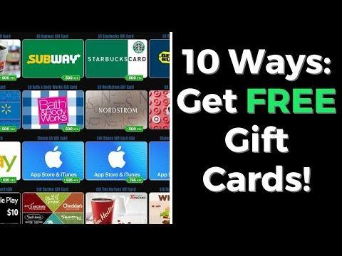 How To Get Free Gift Cards Online 10 Legit Examples Free Gift