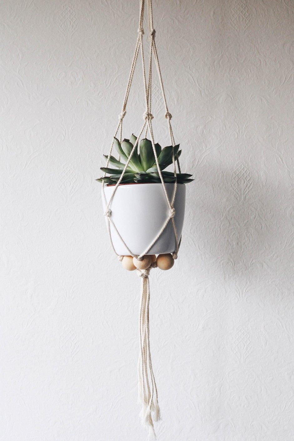 suspension macrame pour plante
