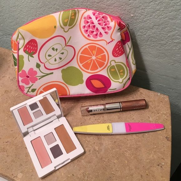 CCO PRICE HP 12/26/15 Clinique Bundle #2 Best in Makeup HP by @jean_obsession on 12/26/15 New unused Clinique makeup bag, lipstick, shadow & blush/bronzer quad , lipgloss and nail file ✂️PRICE CUT 9/26/15✂️ Clinique Makeup