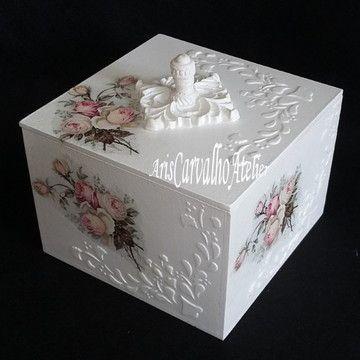 Caixa Decorativa Floral #caixasdemadeira Caixa Decorativa Floral #caixasdemadeira