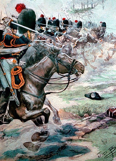 """French """"Grenadiers a Cheval of the Guard at Marengo"""":"""
