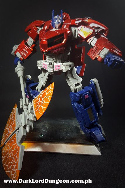 """""""The Autobots will never sacrifice freedom!"""" Check out the oversized WFC Optimus Prime ITF01 Abyss Red Variant in the Dungeon: http://bit.ly/2ec11lr #Transformers #Autobot #WFC #OptimusPrime #Abyss #ITF01 #RedVariant #WarforCybertron"""