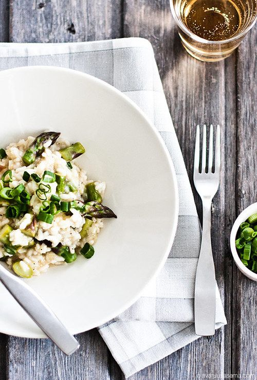 This will heal my flu. Asparagus risotto.