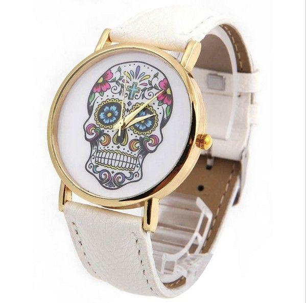 6358509f4b2 Nové levné dámské hodinky s lebkou bílé novinka – POŠTA ZDARMA Na tento  produkt se vztahuje nejen zajímavá sleva