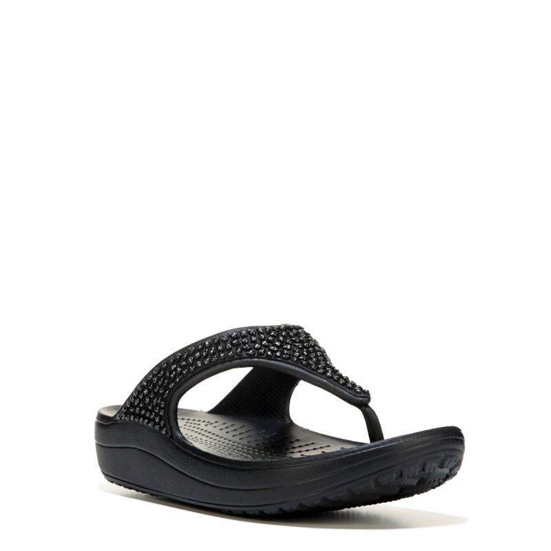 69450015eb5 Crocs Women s Sloan Flip Flop Sandals (Black Black) - 11.0 M