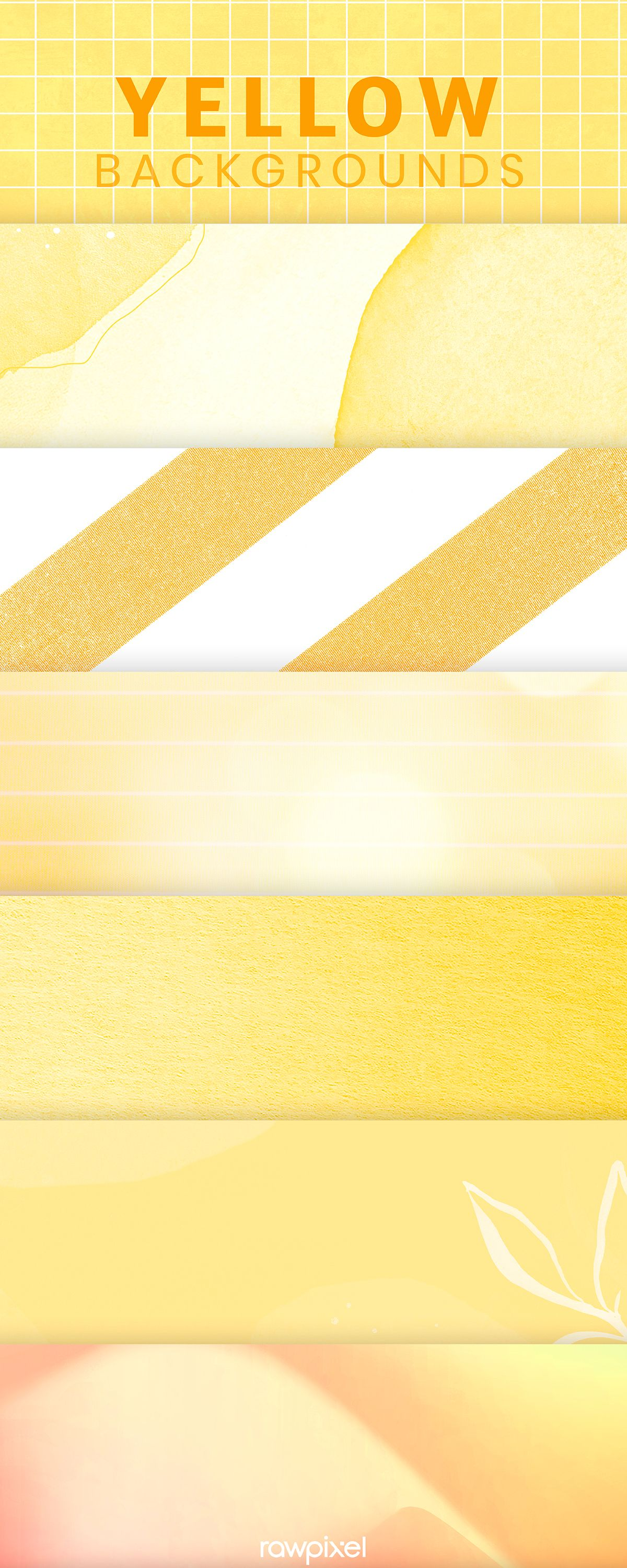 High Definition Free Yellow Tone Background Set Yellow Background Background Color