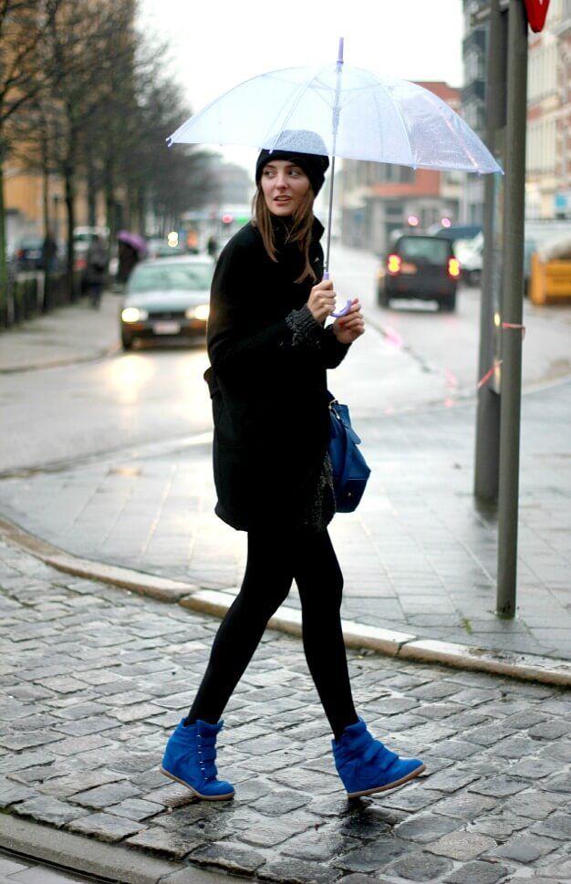 blue Isabel Marant sneakers