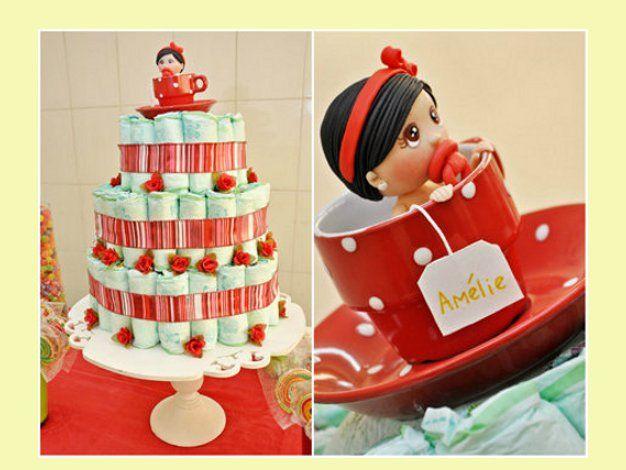 #Fotos de pasteles de pañales para tu BabyShower Post de @Loiana Rosing