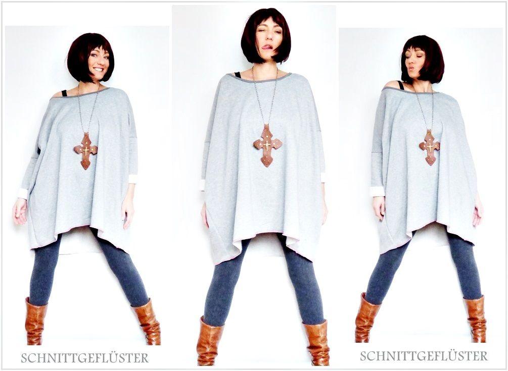 oversize pulli tunic schnittgeflüster | Nähen | Pinterest | Oversize ...