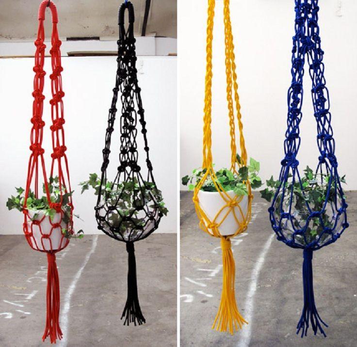 Top 10 fancy ideas for macrame hanging planter - Colgadores de macetas ...