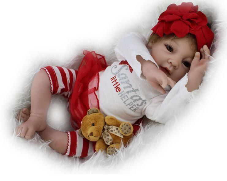 55cm Soft Body Silicone Reborn Baby Dolls Toy Realistic