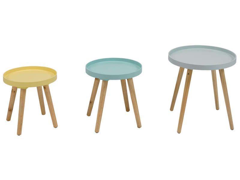 Set de 3 tables du0027appoint SWEET - pas cher ? Cu0027est sur Conforamafr - conforama chaises salle a manger