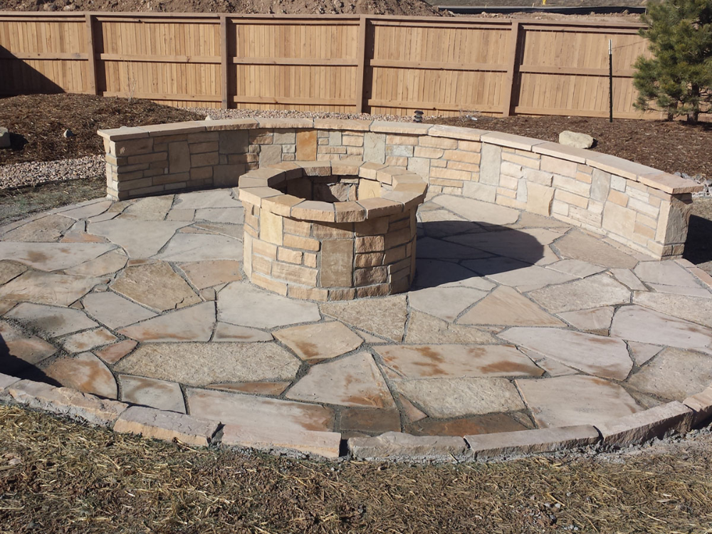 flagstone patio(4x3) - Frontrange Landscape in 2020 ... on Front Range Outdoor Living id=77617