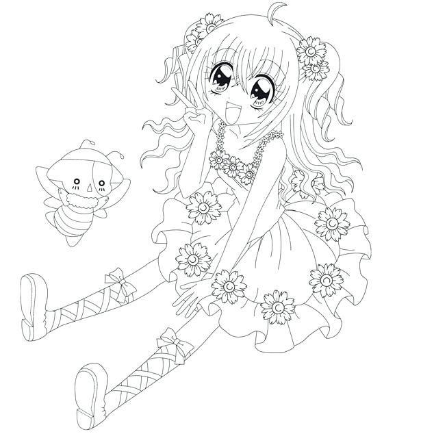 Coloriage De Fille Manga En Robe Supercoloriage