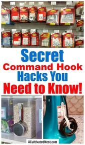 10 Mind Blowing Command Hook Hacks- A Cultivated Nest #kitchengarden #gardenflowers #gardensbythebay #homedesign #bedroomdesign #interiordesigner #furnituredesign #designideas #designinspiration #designlovers #designersaree #designsponge #designersarees #designbuild #designersuits
