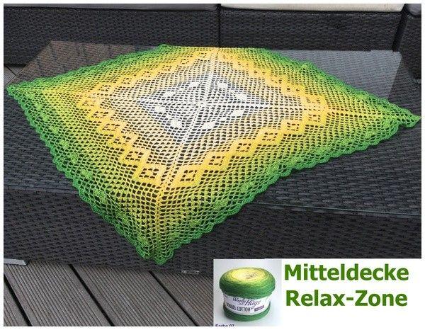 Mitteldecke Relax Zone Größe 100 X 100 Cm Material Woolly Hugs