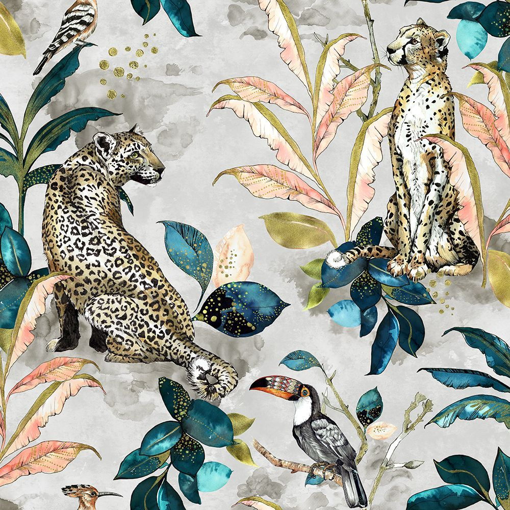Cheetah by Graduate Collection Taupe Wallpaper