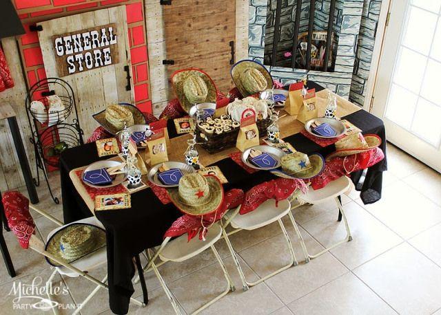 a western cowboys birthday party