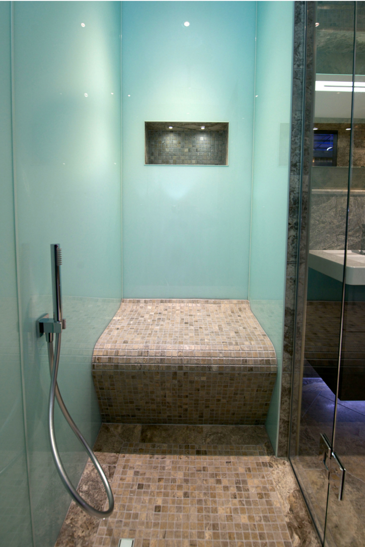 A modern - and easy to install - shower wall panel are ...