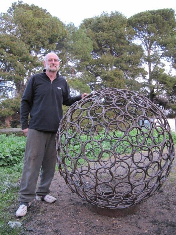 Sculptural Spheres Crazy Wonderful: Wonder If My Dad Could Make This For Me Out Of Old