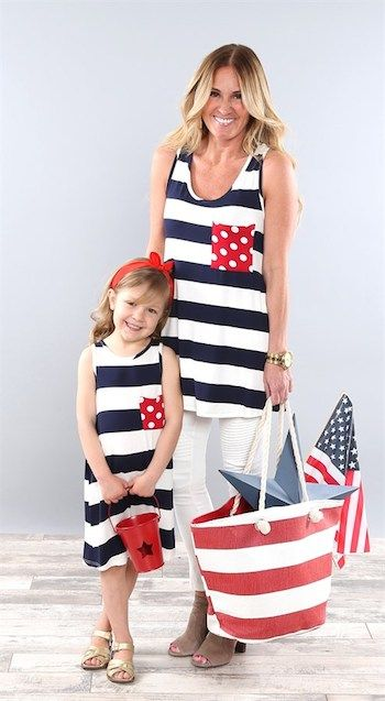 2895d1677ec9cd Coco and Main Mommy and Me Patriotic Outfits - So Cute! Mother and daughter  can both sport red