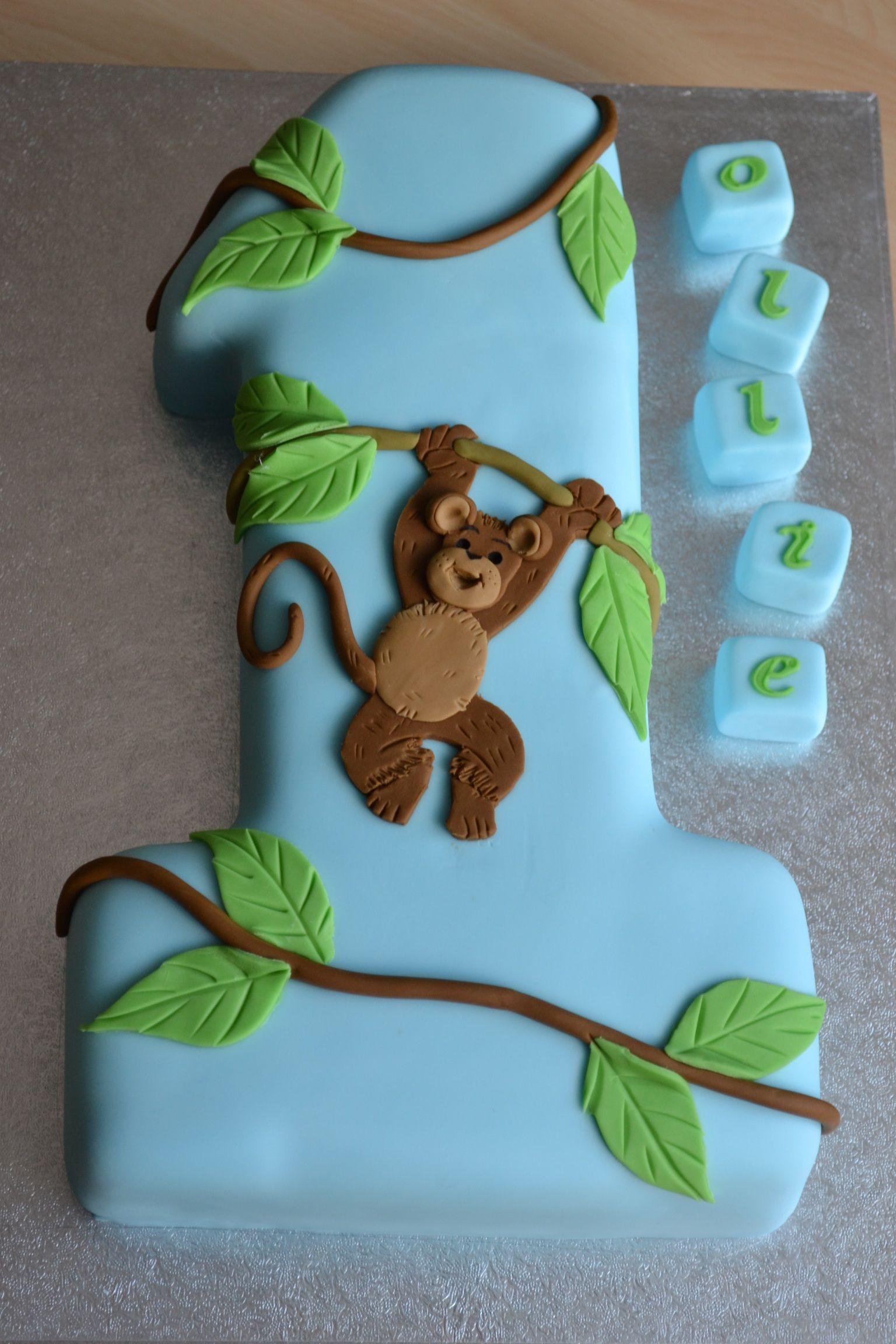 1 Monkey Cake Pinteres