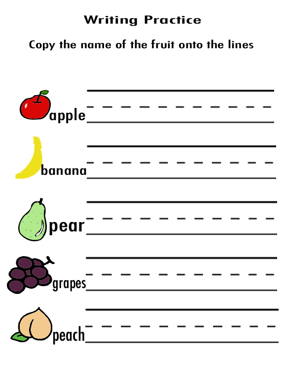 Number Names Worksheets writting worksheets : Number Names Worksheets : printable kindergarten writing ...