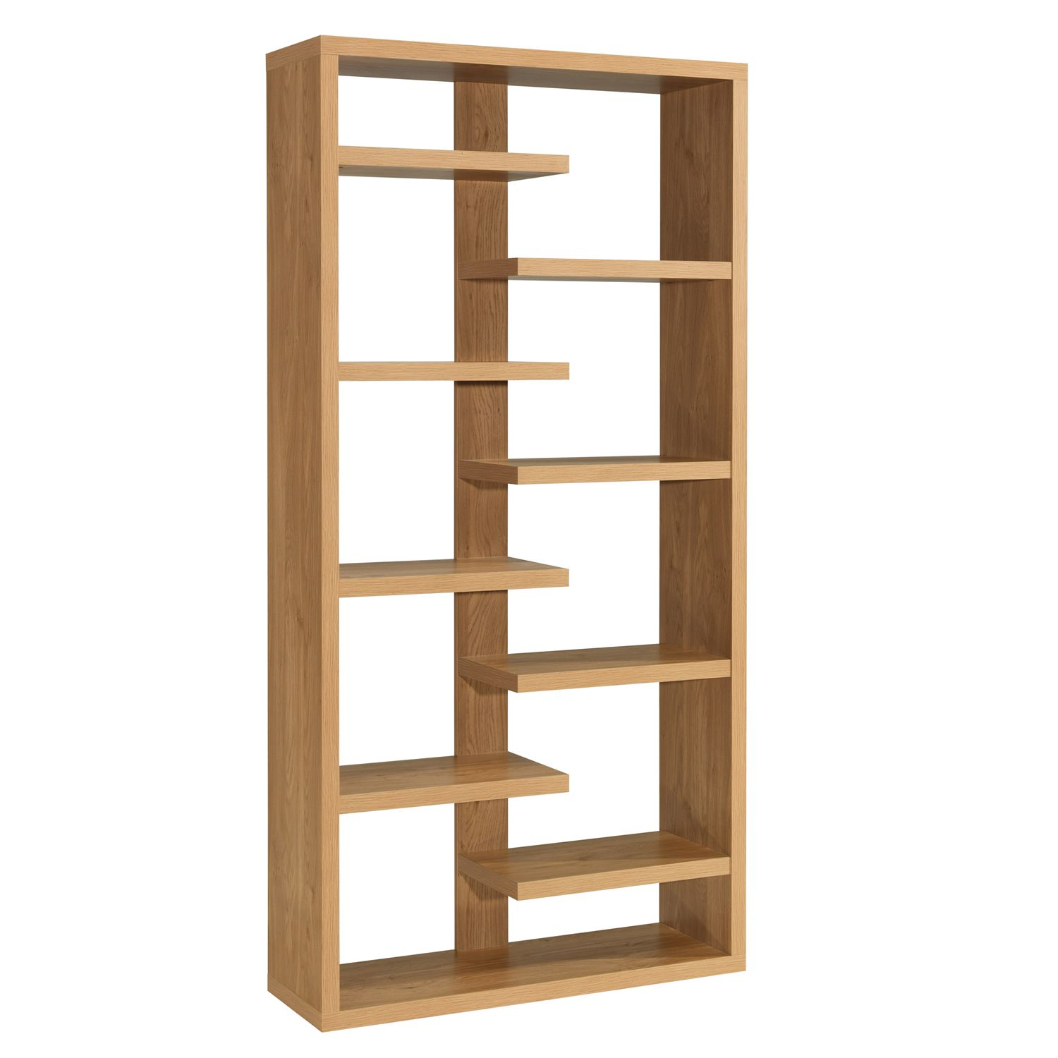 Dining Room Bookcase Oak Veneer Shelving Unit Toronto Modern Wooden