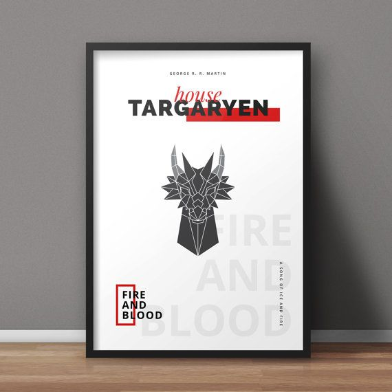 Game Of Thrones Poster Targaryen Poster House Sigil Poster Tv