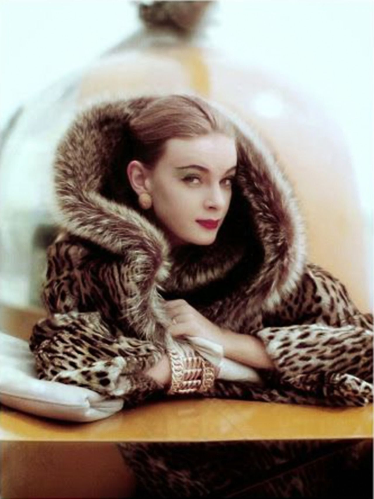 Nena von Schlebrugge, photo by Norman Parkinson, Vogue cover, September 1958