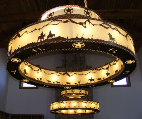 Cherokee Iron Works Rustic Western Lighting Chandeliers