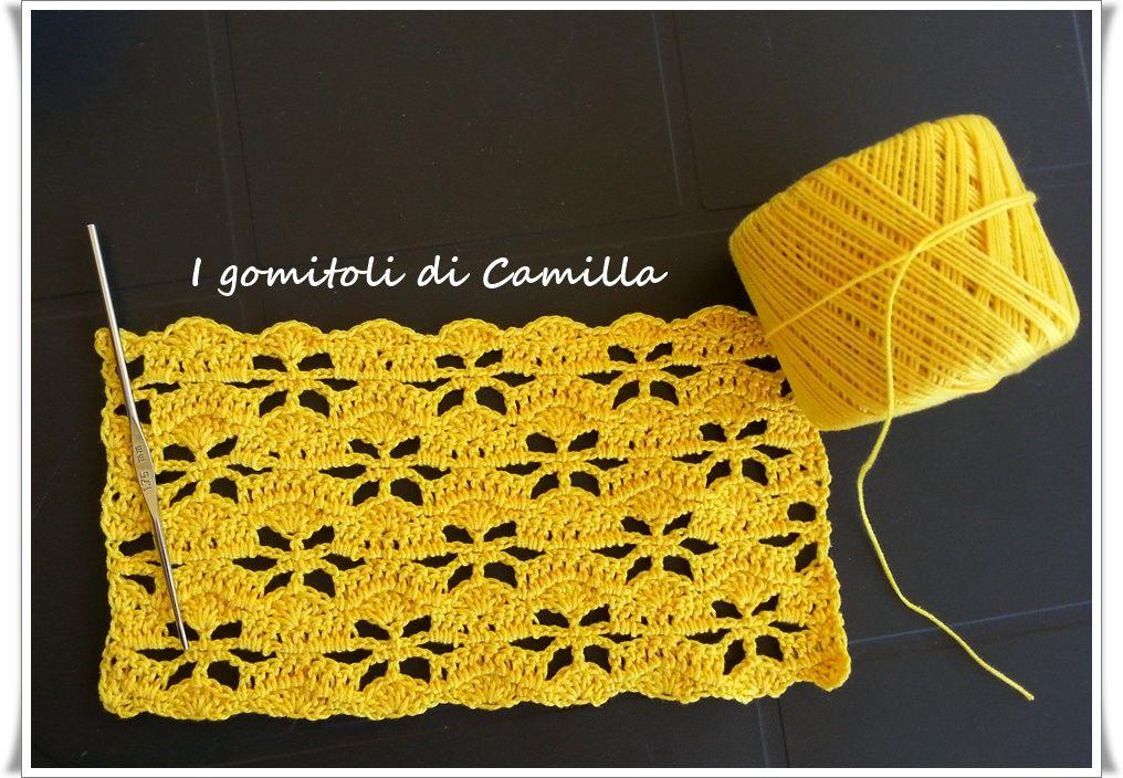 Punto con fiori traforati a uncinetto: punti e spunti di Camilla ...