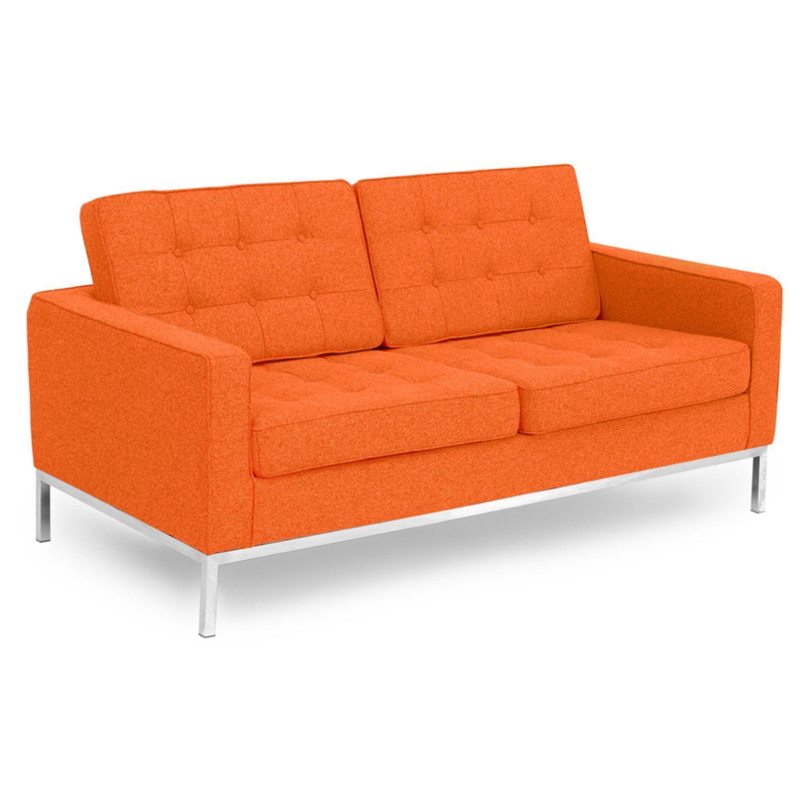 Kardiel Florence Knoll Fabric Sofa Cinnabar Love Seat Fabric