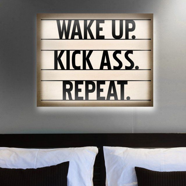 Kick A*s Backlit Canvas Print | Viral Designs | Canvas