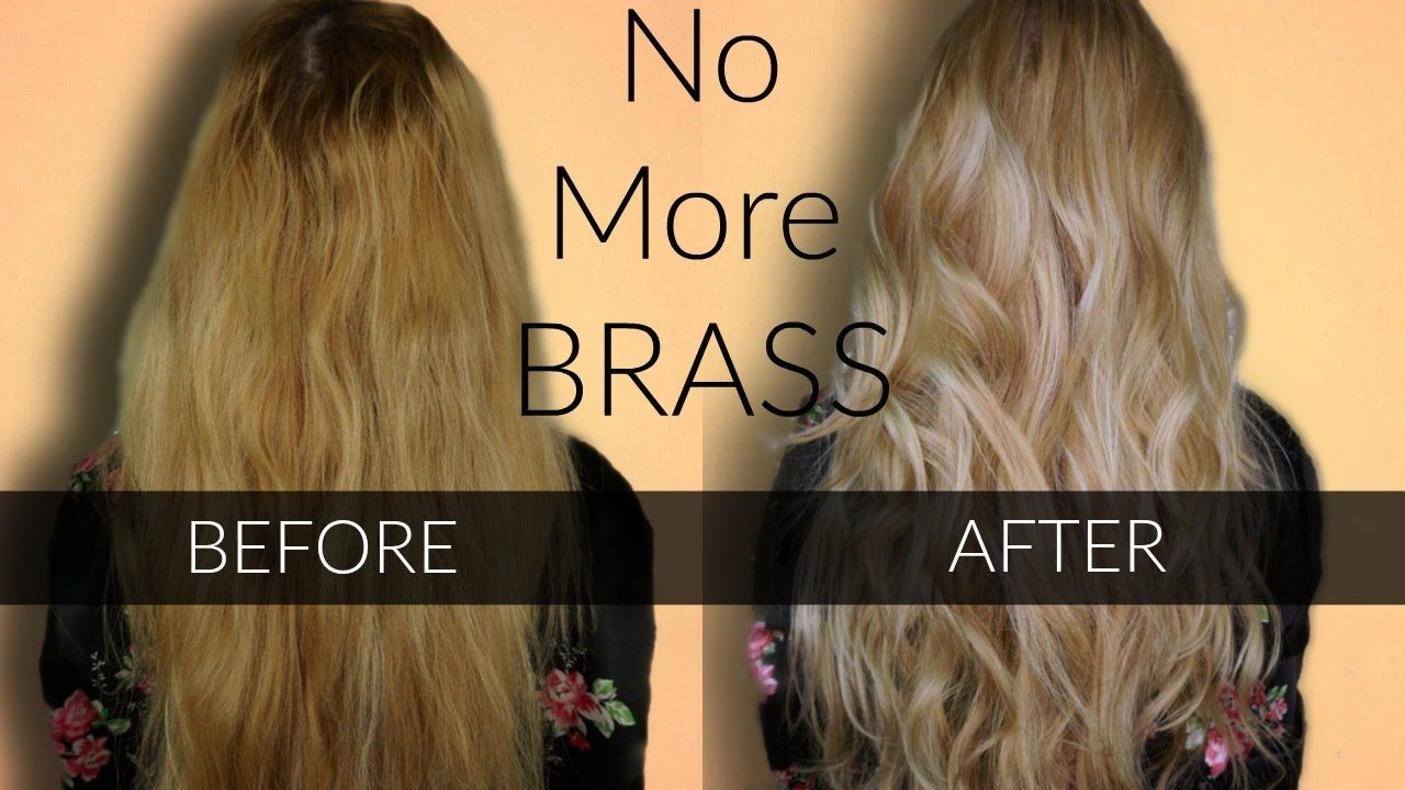 Toning Brassy Hair Wella T18 T11 Easy At Home Hair