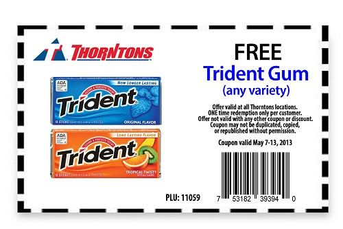 image regarding Trident Coupons Printable named Pin upon promotions/coupon codes/freebies
