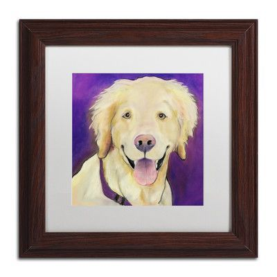 """Trademark Art """"Alex"""" by Pat Saunders-White Framed Painting Print Size: 11"""" H x 11"""" W x 0.5"""" D"""