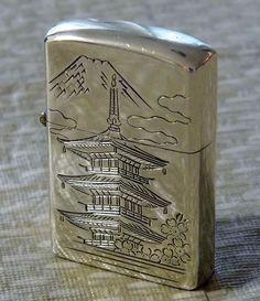 Zippo Vintage Japan Zippo Lighter Lighter Zippo Butane Lighter