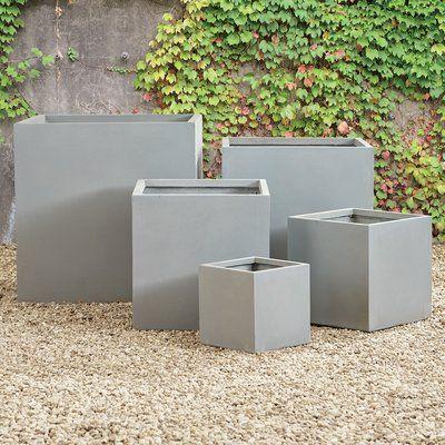 Napa Home Garden 5 Piece Fibreclay Plain Square Concrete
