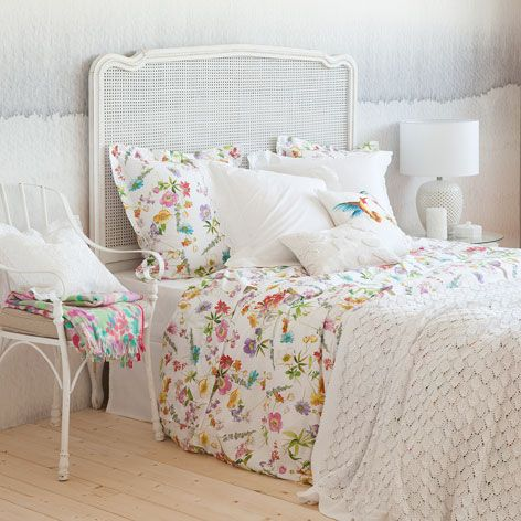 linge de lit imprim floral linge de lit lit zara home france wishlist home. Black Bedroom Furniture Sets. Home Design Ideas