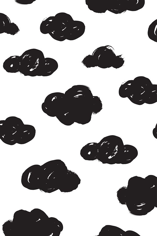 Colorful Fabrics Digitally Printed By Spoonflower Black Clouds