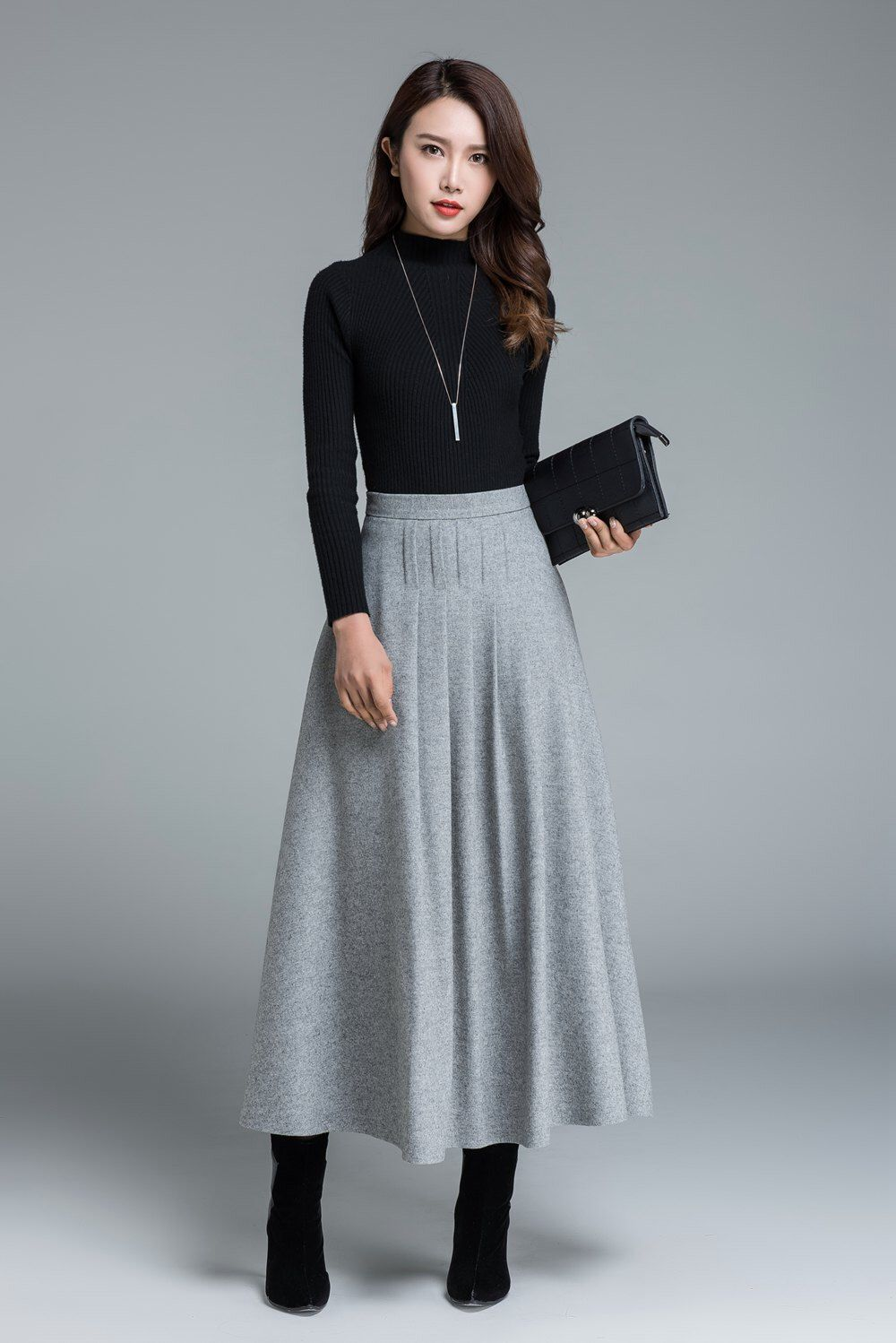 Maxi pleated skirt plus size forecasting dress for summer in 2019