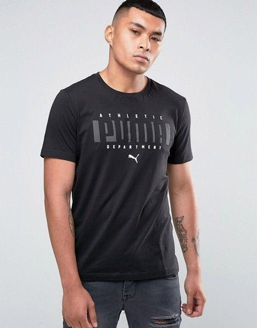 Puma Logo T-Shirt In Black 83833101 at asos.com