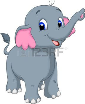 Historieta linda del elefante photo