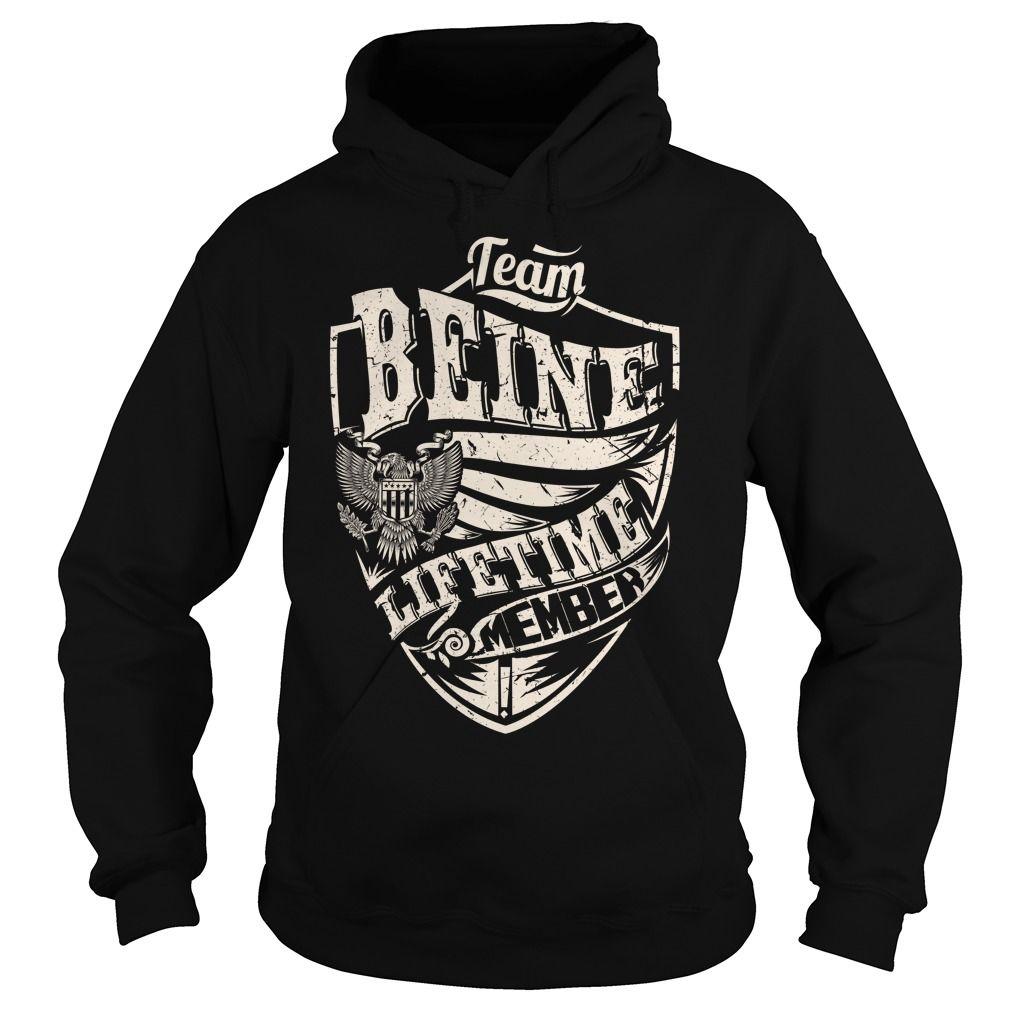 Last Name, Surname Tshirts - Team BEINE Lifetime Member Eagle