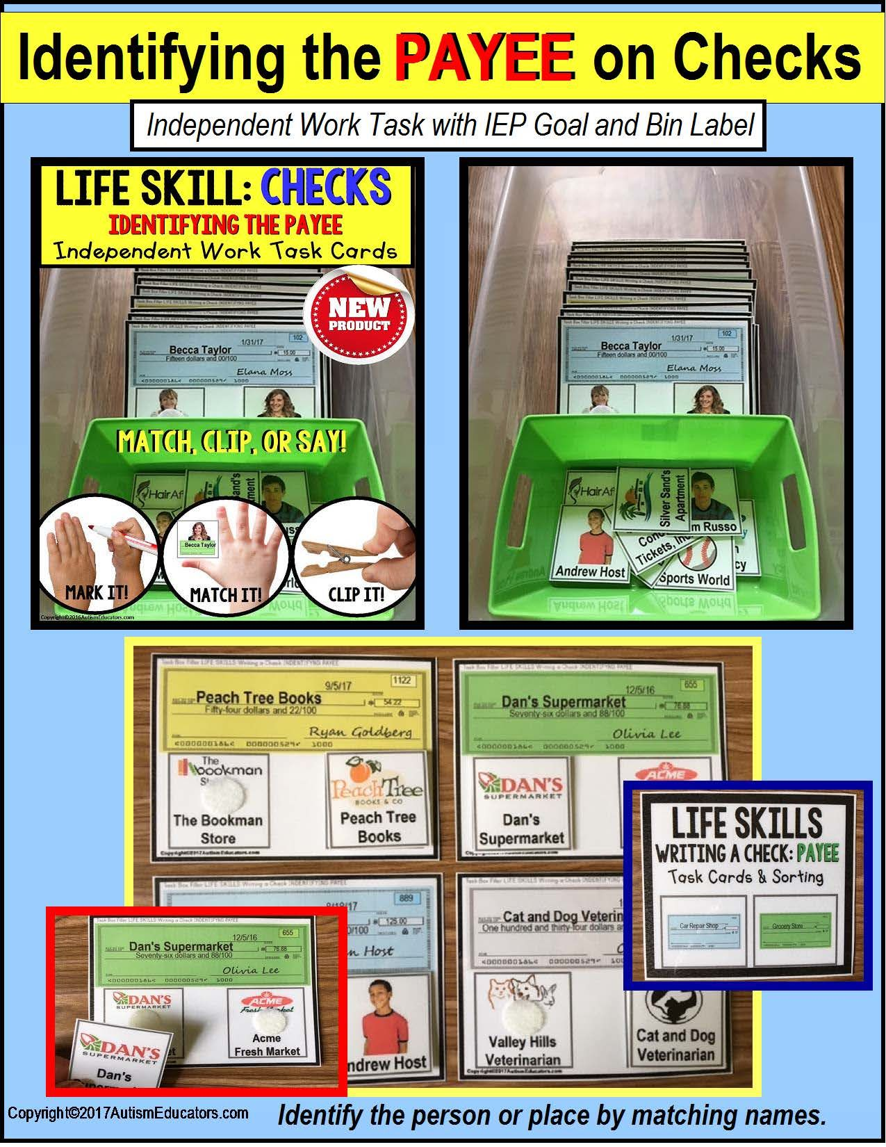 Life Skills Task Cards For High School Students